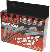 "The MSD 8.5mm Super Conductor Wire is ""the"" performance wire.Engineered from the inside out, the 8.5 offers everything you have ever wanted in a wire; incredibly low resistance without electronic interference!"