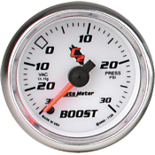 Autometer 7159 Vacuum / Boost - 30 In Hg.-Vac./30 PSI