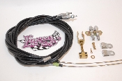 Part # 6EC81FU - Lokar Parking Brake Cable Kit For Wilwood Internal Parking Brake and Ford Explorer Disc Brake Kits