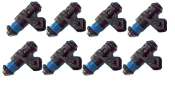 Siemens 107962 EV1 Short Style 60lb Fuel Injectors- Set of 8