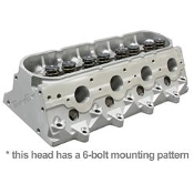 Cylinder Head, GenX® 255, CNC Comp Port, Assy, 69cc CNC Chamber, 370 Springs, Ti Retain, 6-Bolt, GM LS3, Each