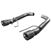 "Kooks 11516400 15+ Mustang GT 5.0L OEM to 3"" Axle Back Exhaust w/Muffler Deletes & Polished Tips"