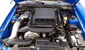 Mustang Mach 1 ProCharger Intercooled Tuner Kit delivers at least 60-70% hp increase with 8-10 psi of boost.
