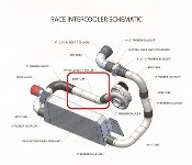 ATI AIGJ31-012/309 Tube LS1 F-BODY Race Intercooler Discharge