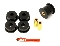 BMR BK001 - Bushing Kit, Differential Mount, Polyurethane, Street Version