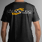 ATI MASBYW Black T-Shirt, Yellow/White Logo