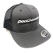 ATI MAHT01-001 Mesh Snapback Hat - Char/Blk, White Logo at Brute Speed