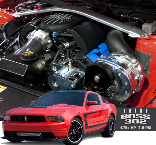 Blower Supercharger Kit For Ford 302: ProCharger 1FR312-SCI '12-'13 BOSS 302 MUSTANG Kits