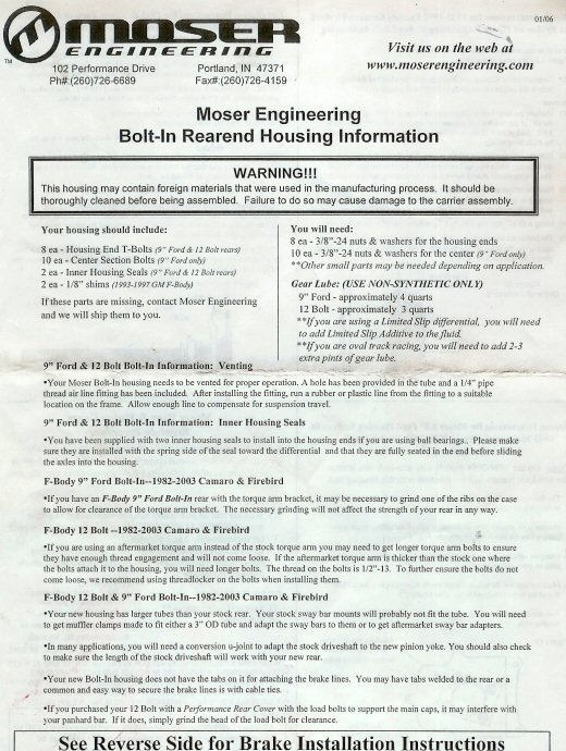 Moser Engineering 7S151 Inner Housing Seal